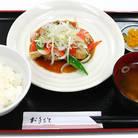 白身魚の黒酢あん定食